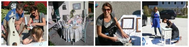 Kreidefarben-Workshop mit Renate Nocker, das Ideenreich Fieberbrunn